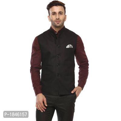 Black Blended  Nehru Jackets