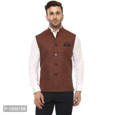 Maroon Blended  Nehru Jackets