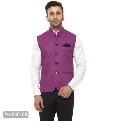 Magenta Blended  Nehru Jackets