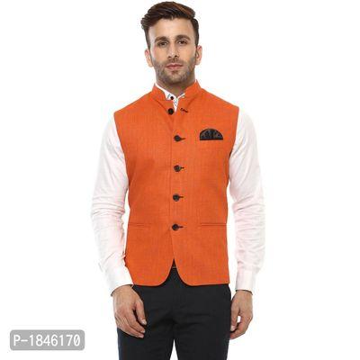 Orange Blended  Nehru Jackets