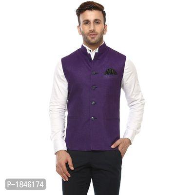 Purple Blended  Nehru Jackets