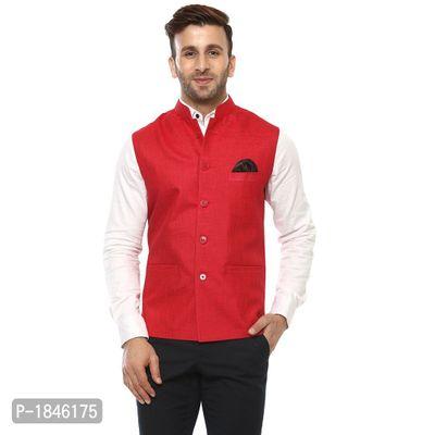 Red Blended  Nehru Jackets