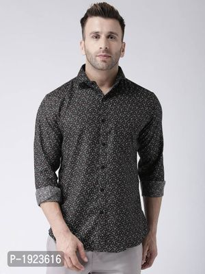 Multicoloured Cotton Blend Printed Slim Fit Casual Shirt