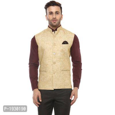 Khaki Blended  Nehru Jackets