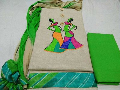 Handloom cotton with doll