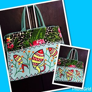 Juco hand painted hand bag
