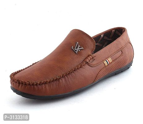 Synthetic Brown Casual Loafers for Men