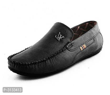 Black Synthetic Casual Loafers for Men