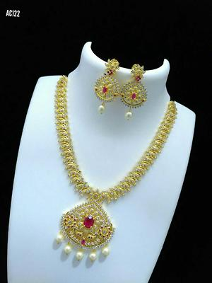 CodeJ10R00010 STONE JEWELLERY ADD MORE TO YOUR CLOSSET!! BEAUTIFULL PCS FOR WEDDING WEAR!!