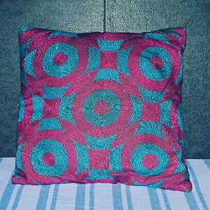cushion cover with handwork Sujani