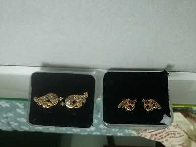 one gram gold plated studs