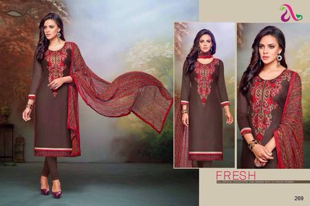 Faux Georgette fabric suits