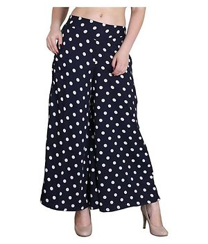 black polka dot plazo
