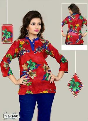 New Short Cotton kurti   Cambric Cotton