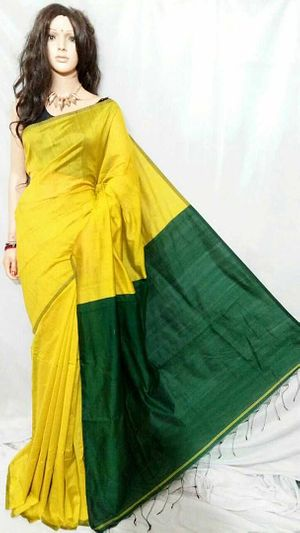 Cotton silk hand loom Saree's with blouse