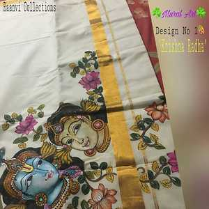 Mural painted sarees