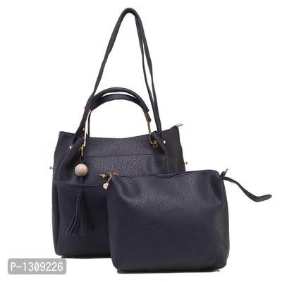Blue PU Shoulder Bag