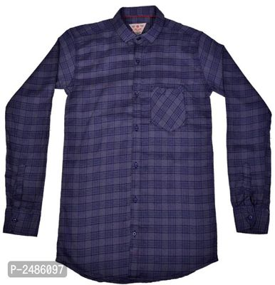 Men's Trendy Cotton Blend Solid Shirt