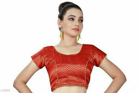 Hottest New Designs in Brocade Blouses! Look Beautiful in These Exquisite Designs!  Catalog Name: Rajni