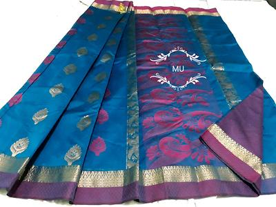 Richness on ur doorstep💃🏻  Highend Silk cotton   Very grand pallu  Running blouse/design blouse shown in pic   Contra border  NNF