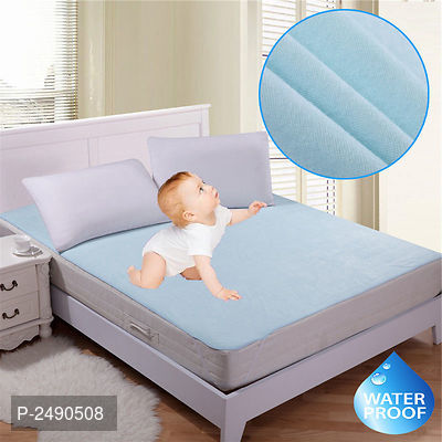 Blue Microfiber Solid Double 1 Bedcover only