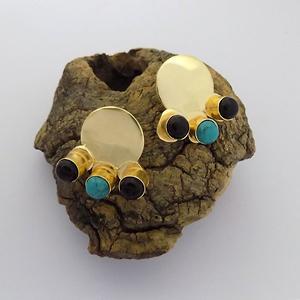 Stud Earring with Multi Gemstone