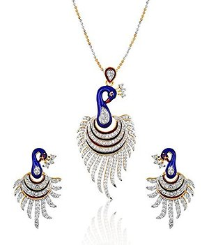 American Diamond Peacock Pended FOR Women