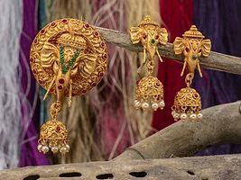 Gold Plated Pendant Sets by Shree Aakarshan