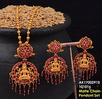 Gold Plated Necklace Sets by Shree Aakarshan