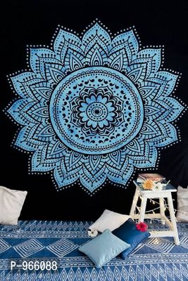 Blue Ethnic Motifs Queen Size 1 Bedcover only