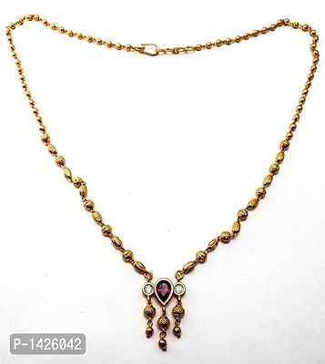 classic goldplated neacklace stone studded
