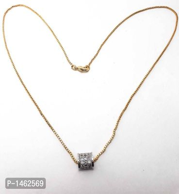 beautiful goldplated  chain with studed fancy pendant