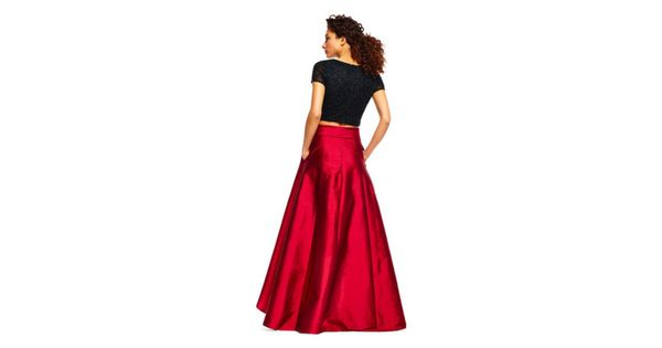 High low ball skirt - dazzling red