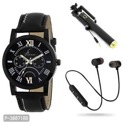 Combo of Men's Analog Watches with Mobile Accessories