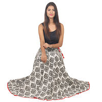 Mulit-Color Printed Flared Ethnic Skirt