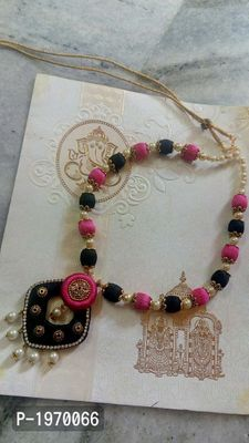 pearl and silk thread jewelry