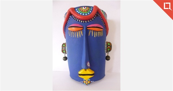 Hand Painted Teracotta Mask