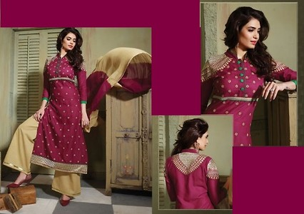 DESIGNER COTTON DRESS MATERIAL WITH EMBROIDERY