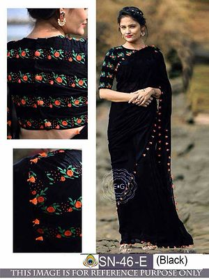 PALLU / SCUTT  :  GEORGET BLOUSE  :  BENGLORI  SILK WORK  : THREAD FANCY WORK  Note it's only best quality   Low quality also in  market