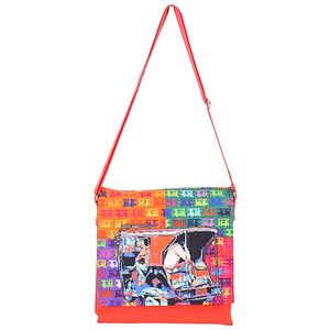 Funky Taxi  Digital Printed Canvas Sling Bag