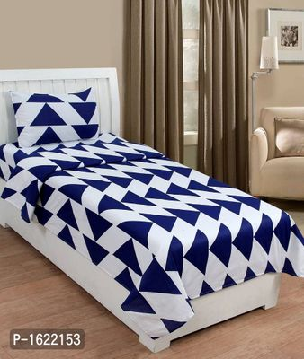 Cotton Single Bedsheet With 1 Pillow Covers