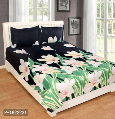 Polycotton Double bedsheet With 2 Pillow Covers