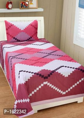 Premium  Single Bedsheet with 1 Pillow Cover