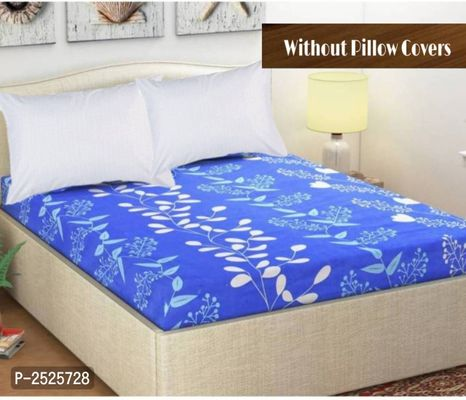 Colorfull Printed Blue Polycotton Floral Queen Size 1 Bedsheet only