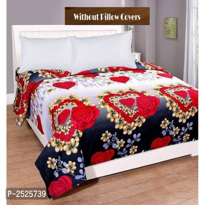 Colorfull Printed Red Polycotton Floral Queen Size 1 Bedsheet only