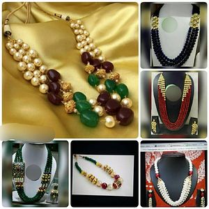Collage of few neck pieces