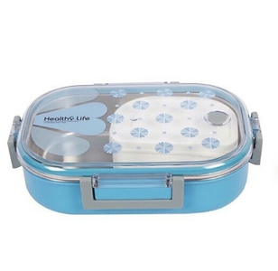 BPA Free, Airtight, Four Side lock , Transparent lid with insulated food container.