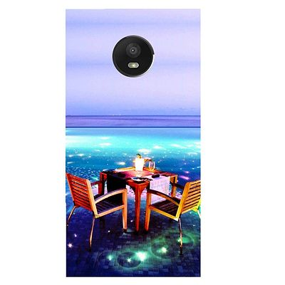 Open Dining Printed Case Cover For Motorola E4