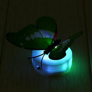 2 night lamp led butterfly