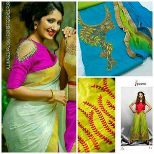 A beautiful saree with salwar suit with plazzo